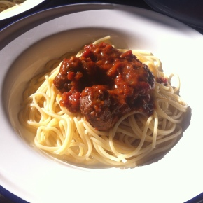 What I ate today:meatballs