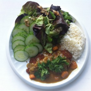 What I ate today: chicken katsucurry