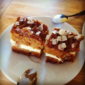 What I ate yesterday: caramel cake at Londek Cafe,Stratford